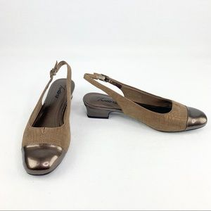 NWOB Trotters Dea Leather Slingback Heels Size 7